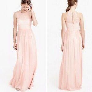 🆕J. Crew bridesmaid silk chiffon Megan dress long